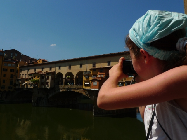 Little traveller in Florence