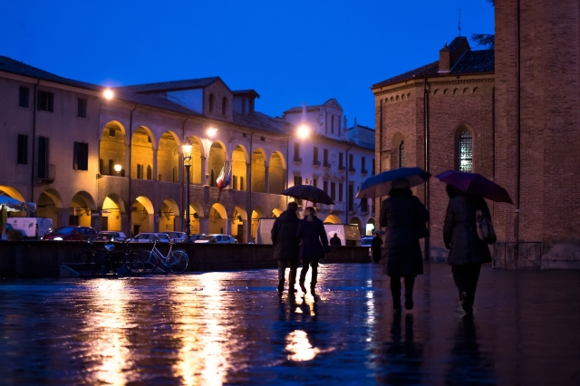 Padova sotto la pioggia