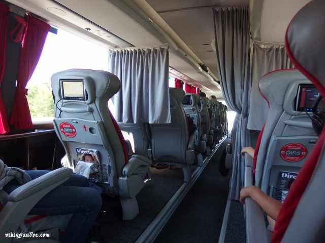Bus -anche se sembra un aereo- tra Vilnius e Riga (vikingandre.com)